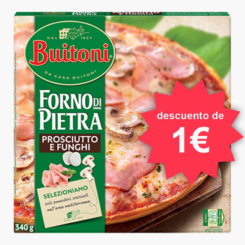 1€ de descuento en pizzas Buitoni