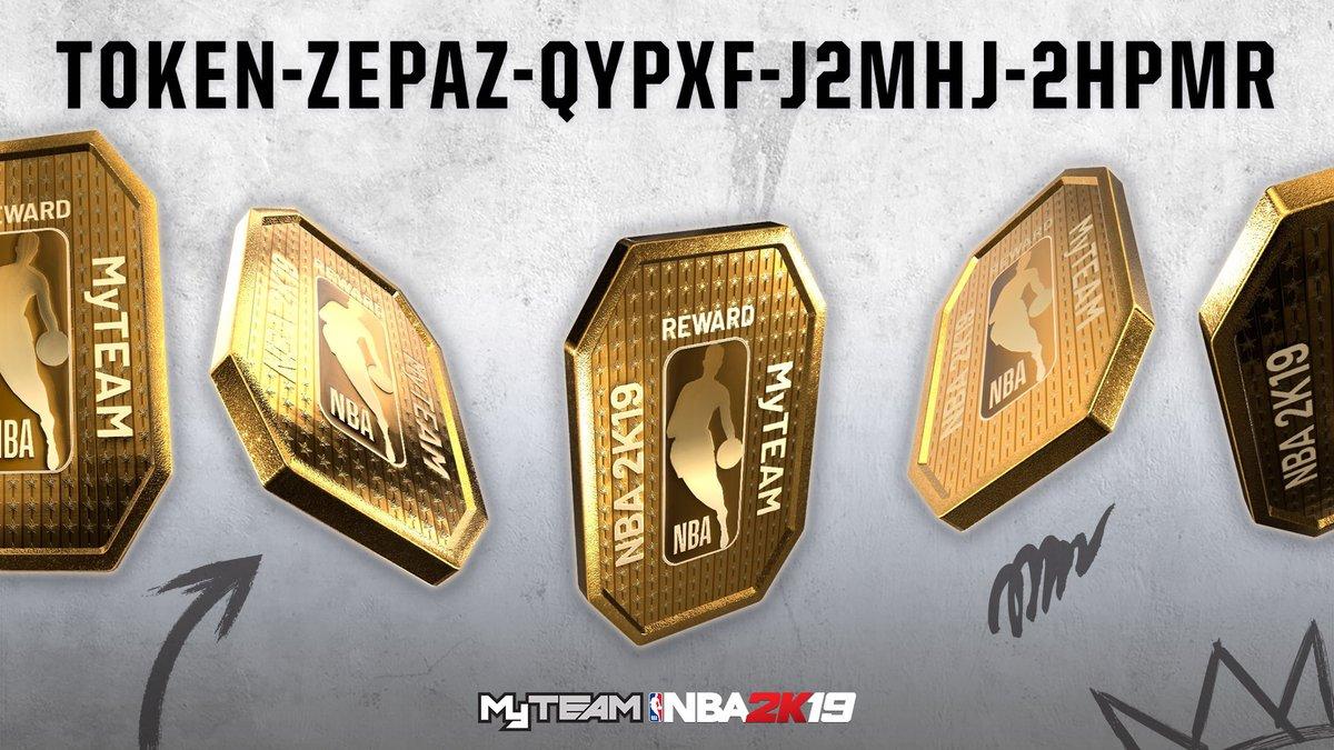 25 Tokens GRATIS NBA2K19