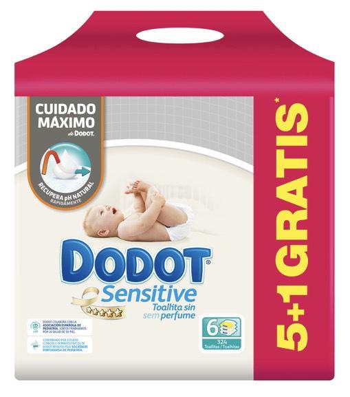 2x1 toallitas Dodot Sensitive en Cheque Carrefour