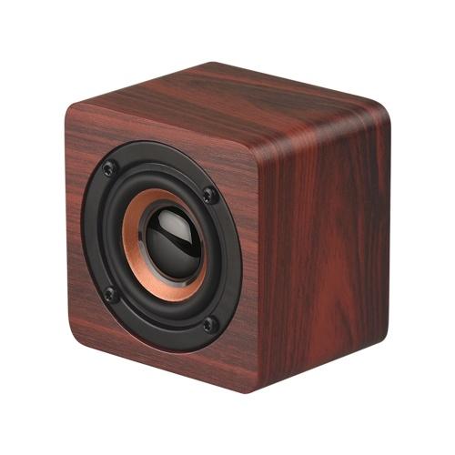 Q1 Mini Altavoz Bluetooth portátil de madera Subwoofer