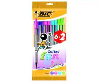 8 bolígrafos BIC punta gruesa 0,88 € (0,14 €/Unidad) AlCampo