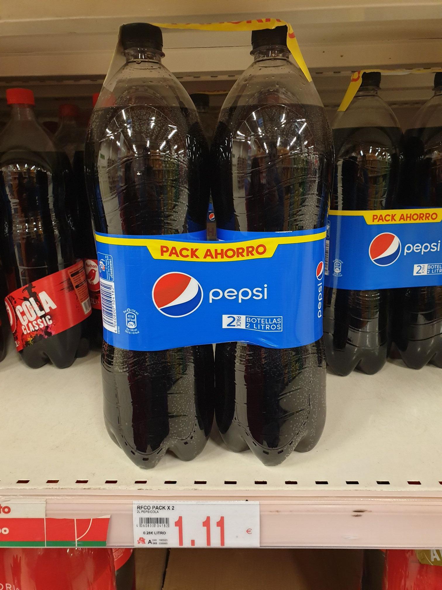 Pack 2 botellas de 2L de pepsi