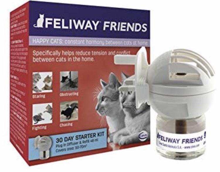 CEVA 3.1 de un máximo de 5 estrellas  69 Reseñas Ceva Feliway Friends - Difusor + Recambio, kit de iniciación para gatos, 48 ml