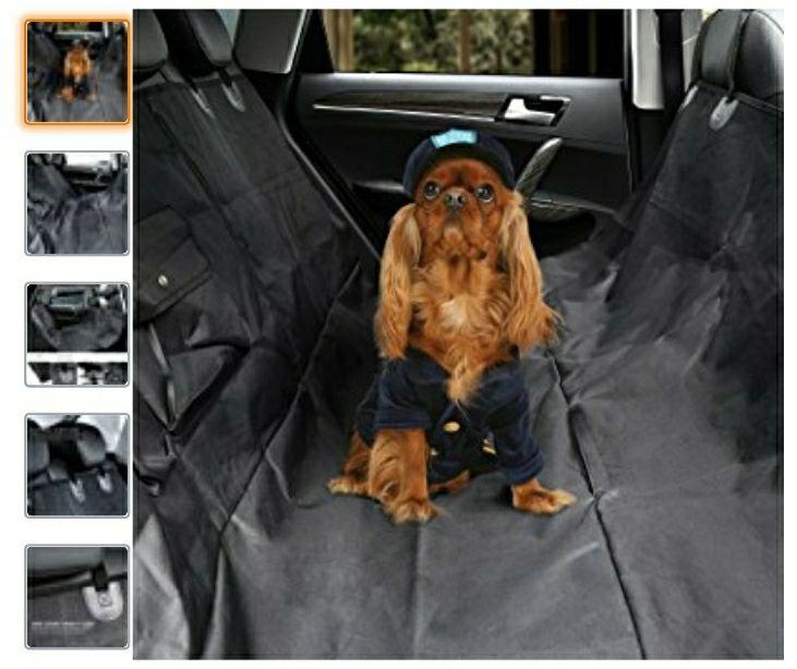 Cubierta Asiento Protectora Impermeable de Coche Asiento para Animal para Mascota para Perros Negro (147 × 137cm)