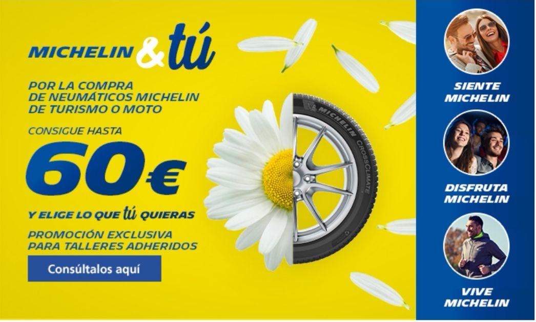 Descuento neumáticos Michelín(Hasta 60€)
