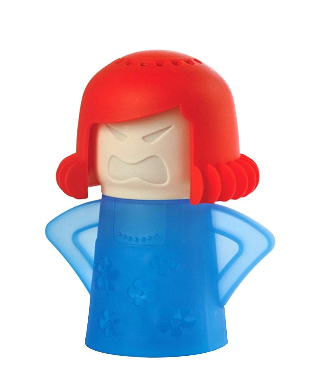 """Limpiador microondas """"mamá rabiosa"""" color azul"""