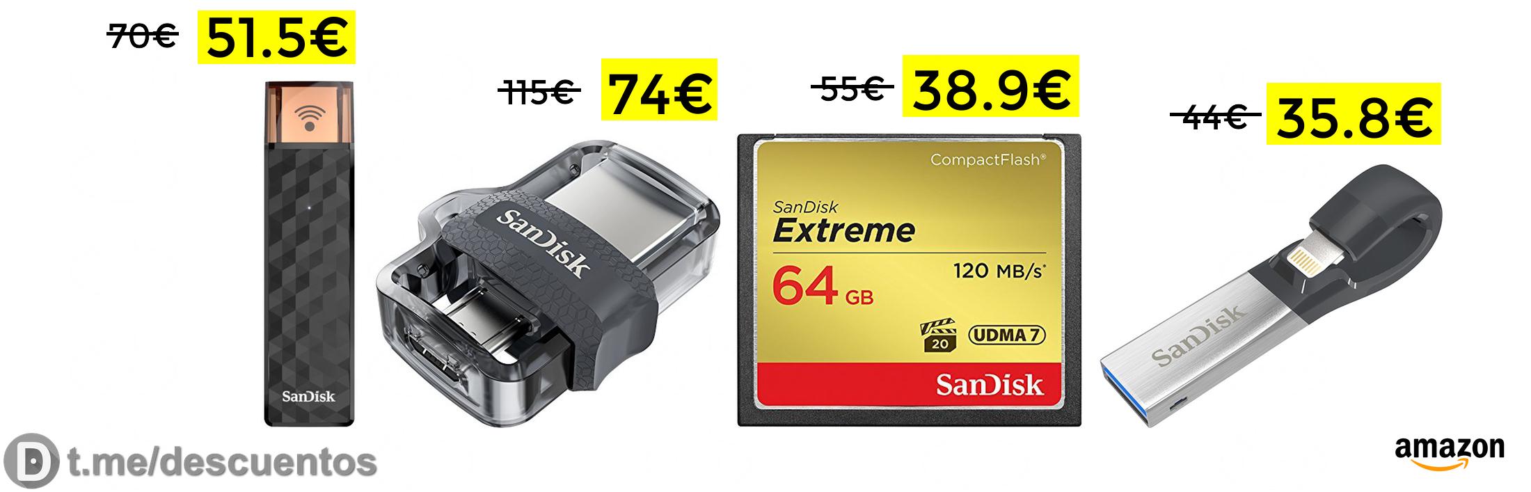 Memoria flash Wireless 128GB por solo 51€