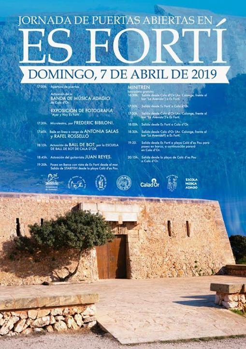 "MALLORCA (Domingo 07/04): Puertas abiertas a la rehabilitada fortaleza ""Es Fortí"" en Cala D`Or"