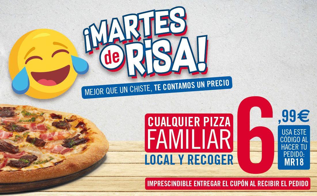 Familiares a recoger a 7€ los martes en Domino's Pizza