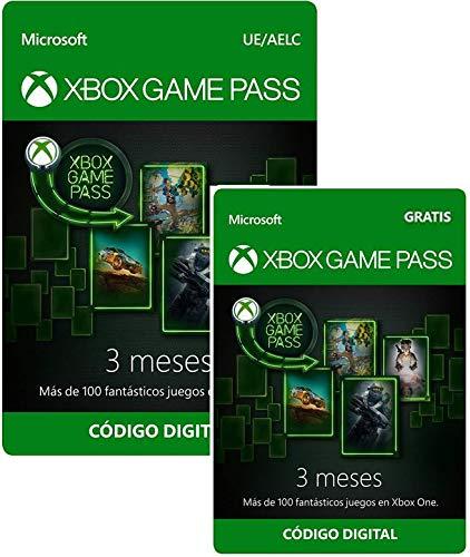 Tarjeta Membresía Xbox Game Pass - 3 Meses + 3 Meses GRATIS | Xbox Live - Código de descarga