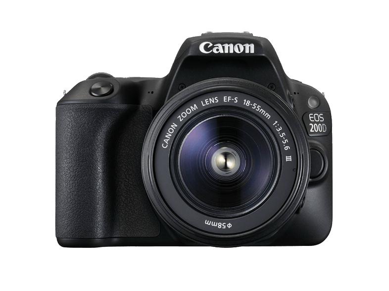 Cámara Réflex Canon EOS 200D + objetivo EF-S 18-55mm por 402€