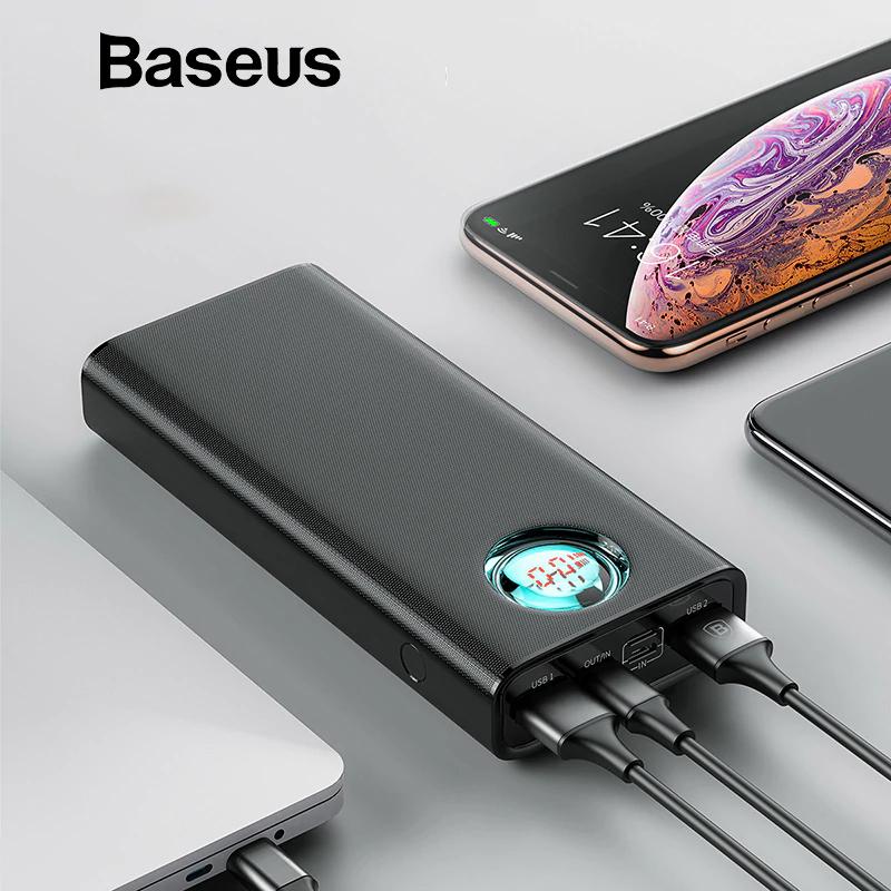 Baseus 20000mAh Power Bank con pantalla