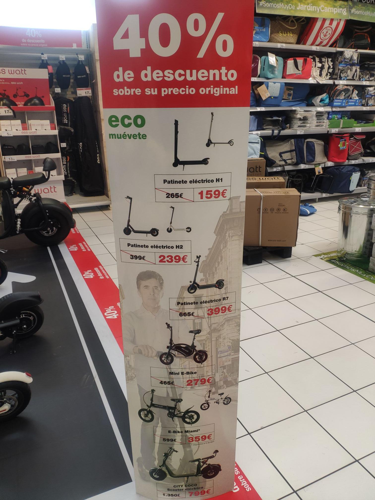 Patinete eléctrico ,e-bike y más...con descuento del 40%