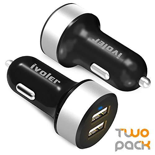 iVoler [2-Unidades] - Cargador de coche con 2 USB