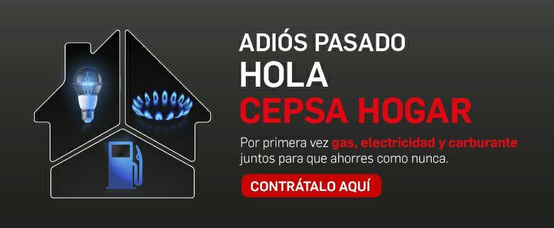 CEPSA HOGAR . LUZ + GAS + COMBUSTIBLE. 18% DTO