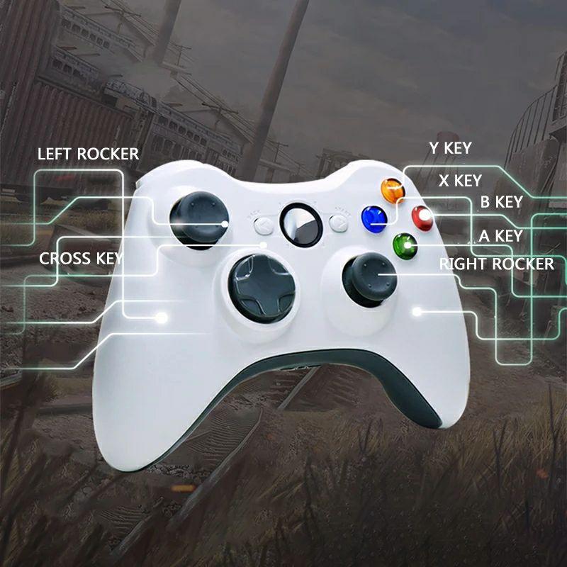 Gamepad diseño parecido a Xbox cable e inalámbrico