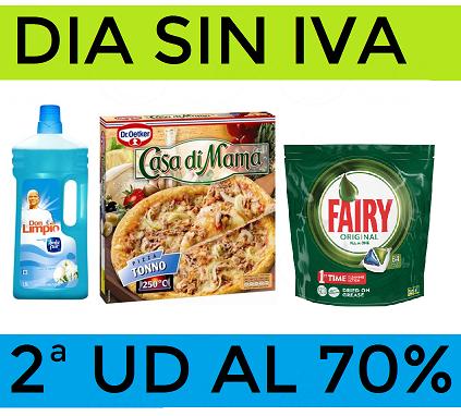 Dia sin IVA + 2ª Unidad al 70% en Carrefour