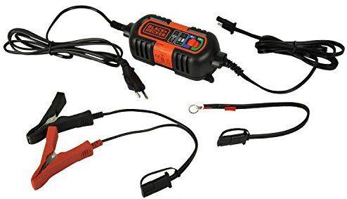 Cargador bateria coche/moto.   Black + Decker BDV090 Cargador De Baterias, 6-12V De Mantenimiento