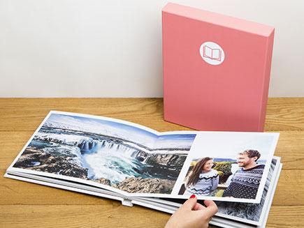 Páginas gratis en los álbumes de fotos Photobox