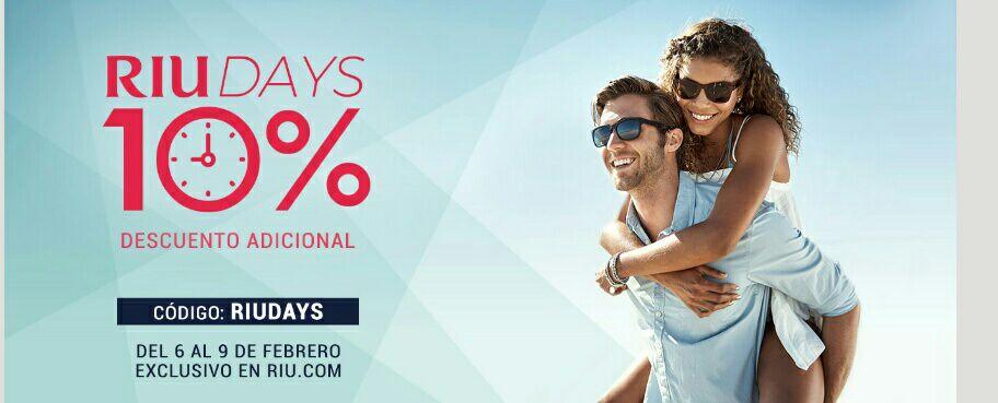 Oferta 10% en Hoteles RIU