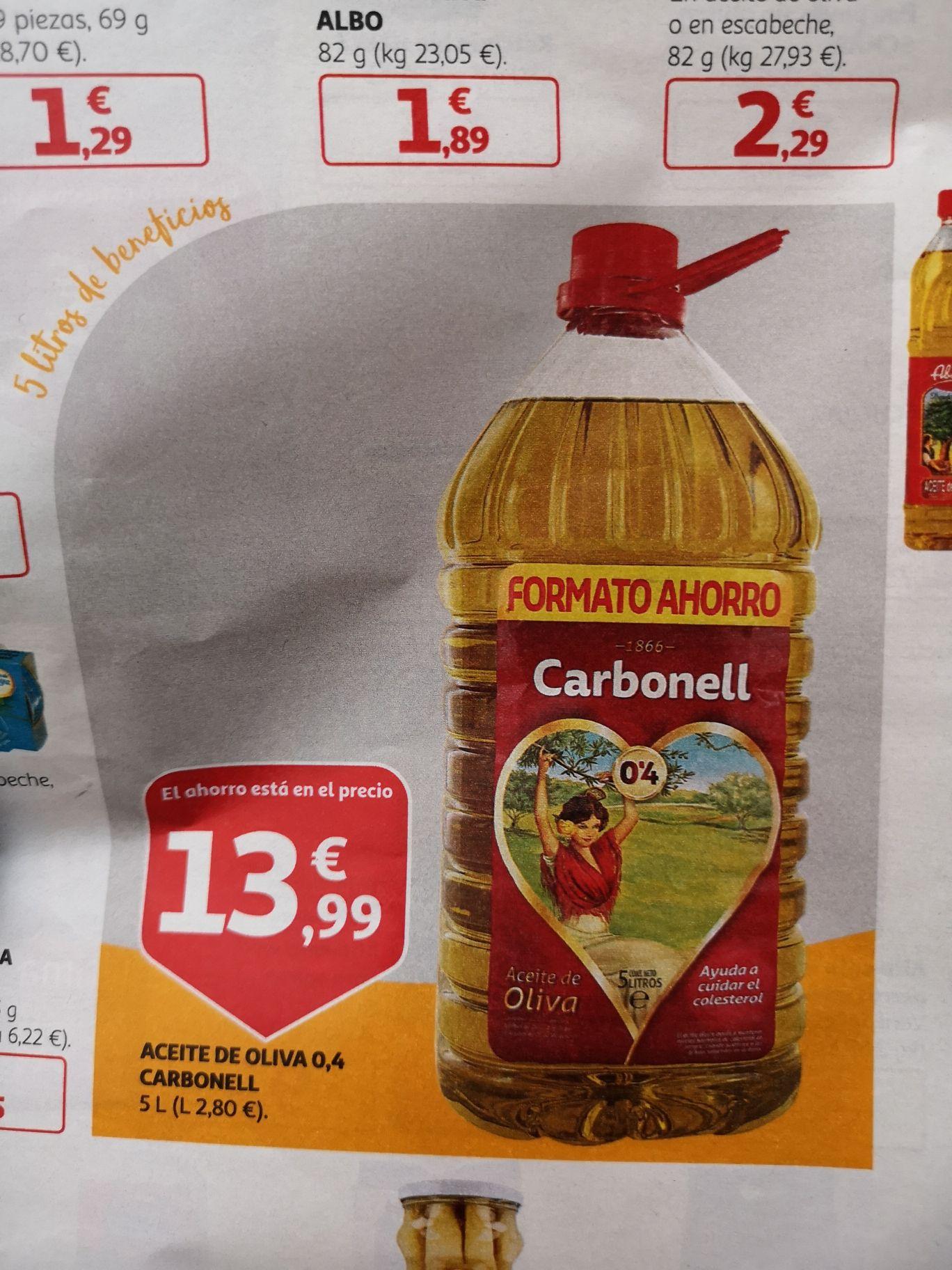 Aceite de Oliva 0'4 Carbonell 5L (Alcampo)