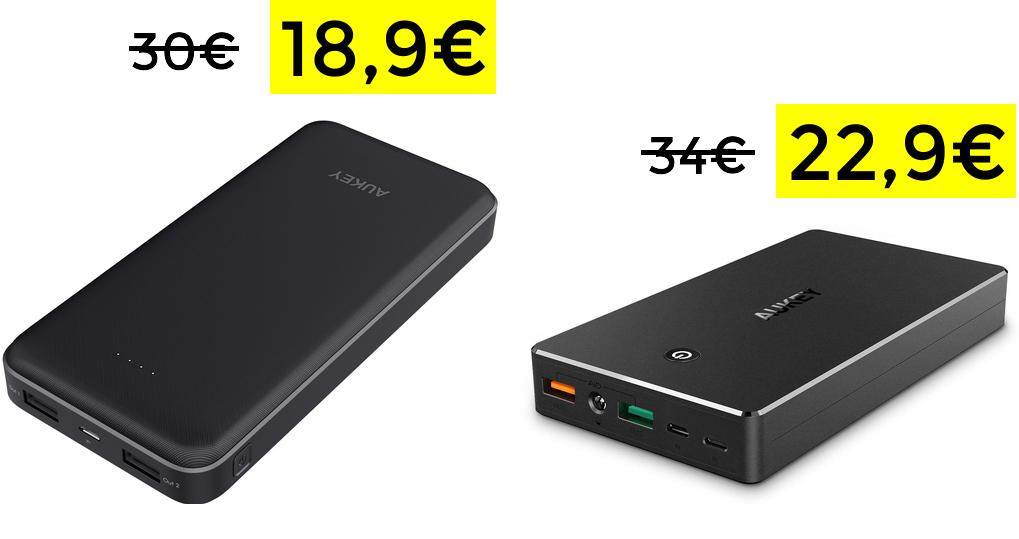 PowerBank AUKEY desde 18,9€