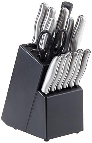 Juego de 15 cuchillos con tijeras y afilador