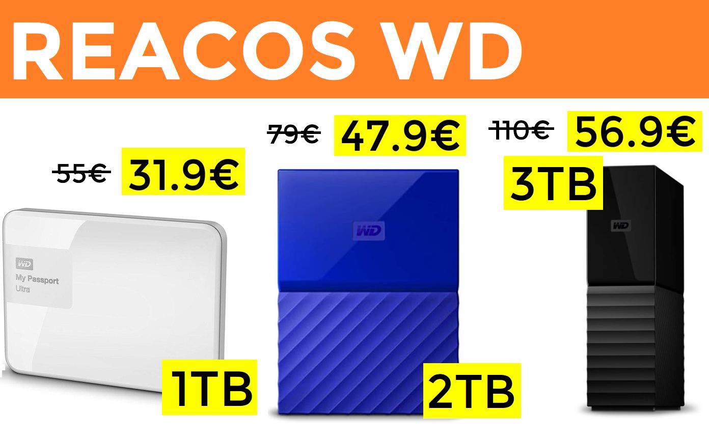 Chollazos en discos duros recertificados WD