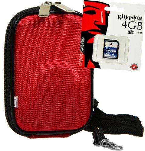 Funda rígida con 4 GB Tarjeta SD, Rojo (PRODUCTO PLUS)