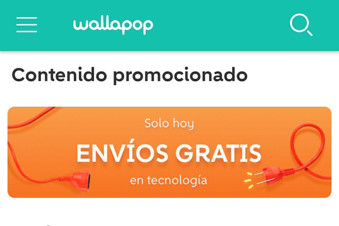 envíos gratis en wallapop en tecnología