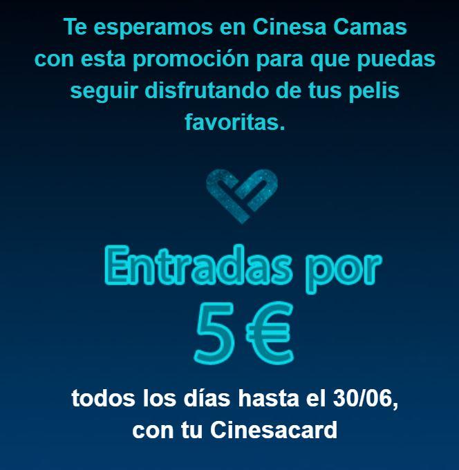 Cinesa Camas (Sevilla) a 5€ para los socios Cinesacard