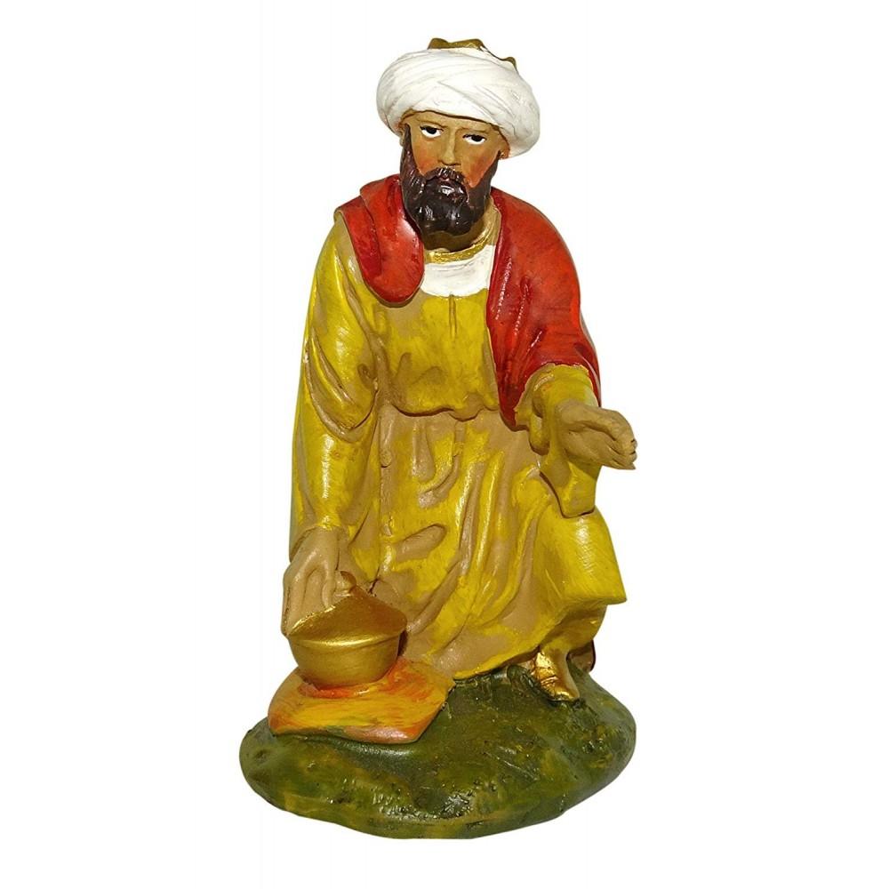 Rey Gaspar Figura Decorativa, Madera, 40 Cm