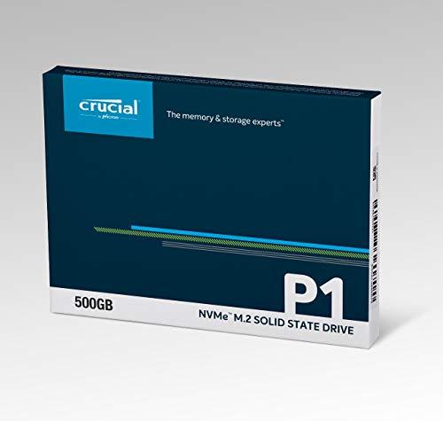 Crucial P1 CT500P1SSD8 - Disco Duro sólido Interno SSD m2 de 500 GB