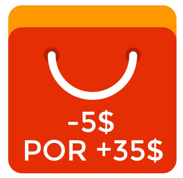 Nuevo cupón de Aliexpress para compras superiores a 35$,