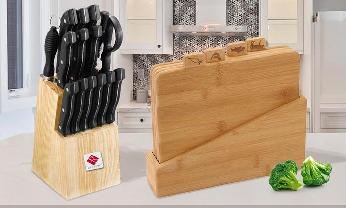 Set de 15 cuchillos + Tacoma de bambu
