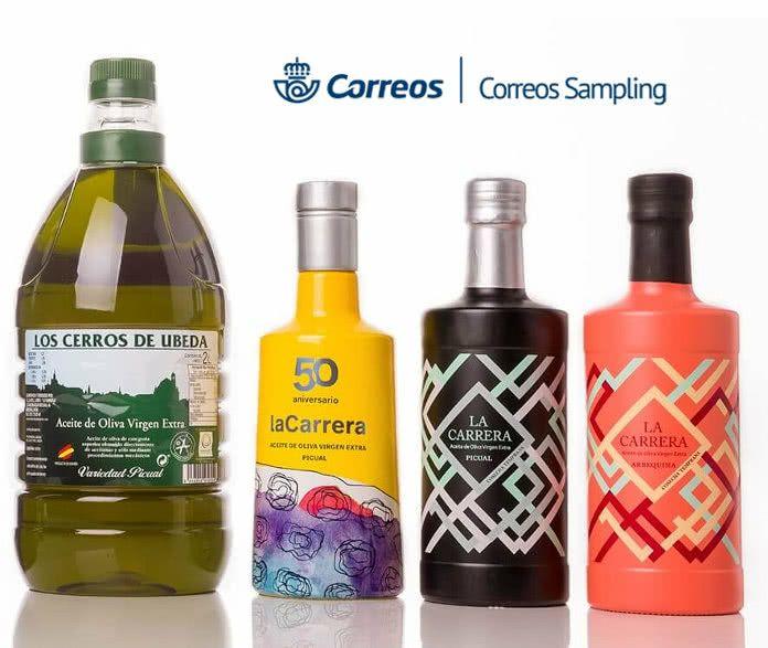 1000 muestras aceite de Oliva virgen extra la Carrera (Correos Sampling)