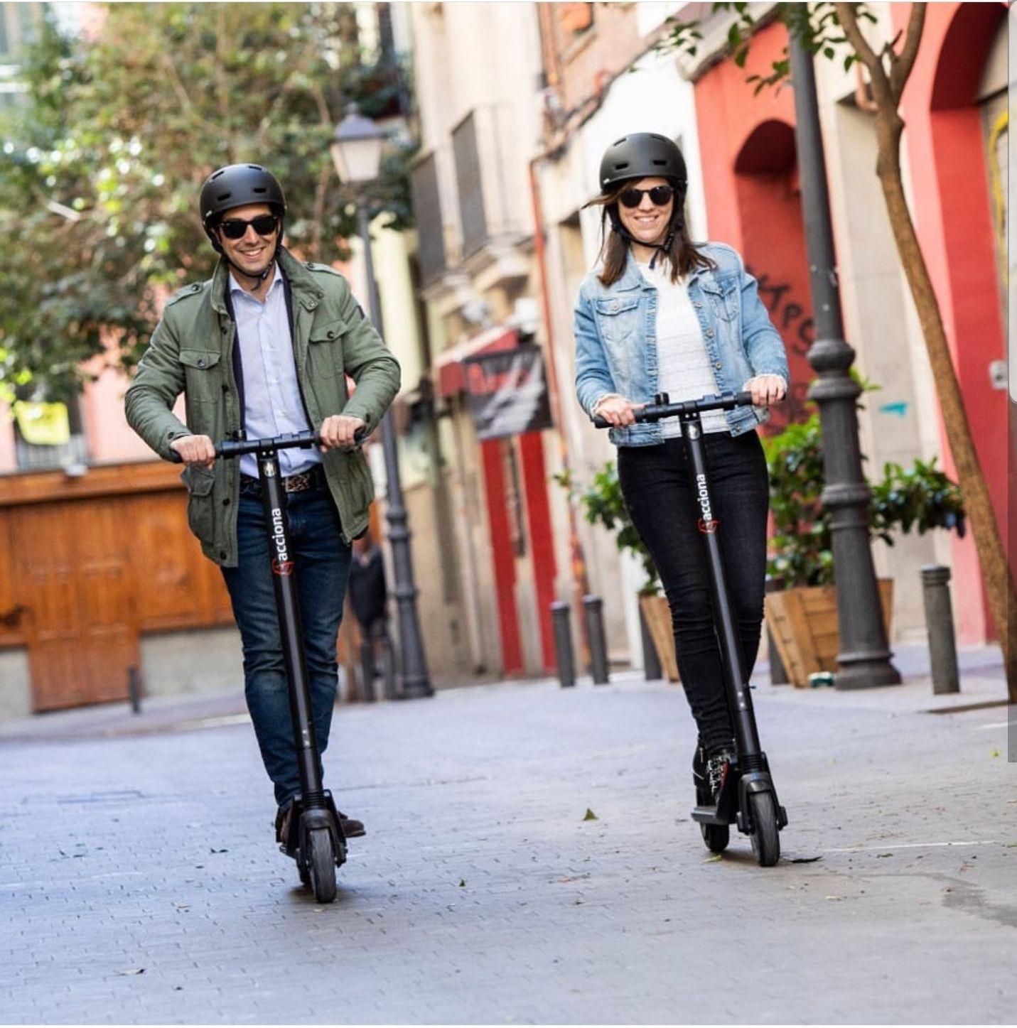 Patinetes acciona mobility gratis este fin de semana en Madrid