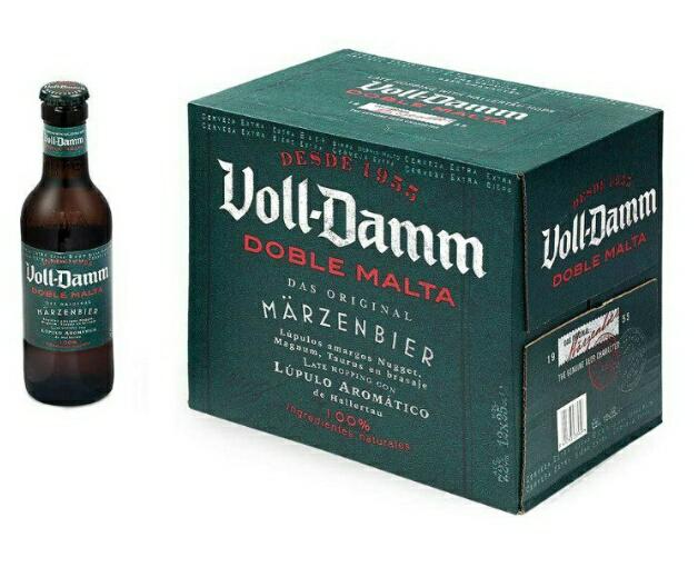 Voll-Damm Cerveza - Paquete de 12 x 250 ml - Total: 3000 ml