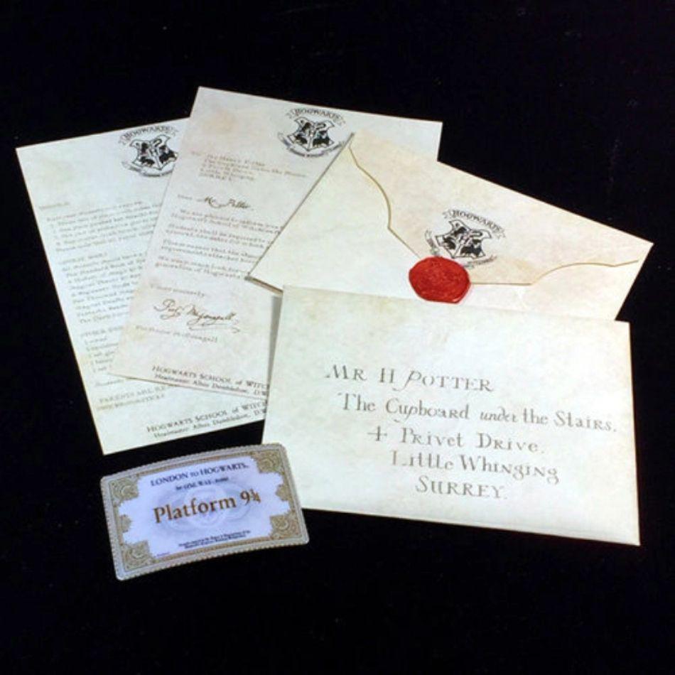 HOGWARTS carta invitación + Ticket andén 9 3/4