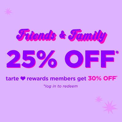 30% cupón descuento Tarte Cosmetics en tu compra Friends&Family