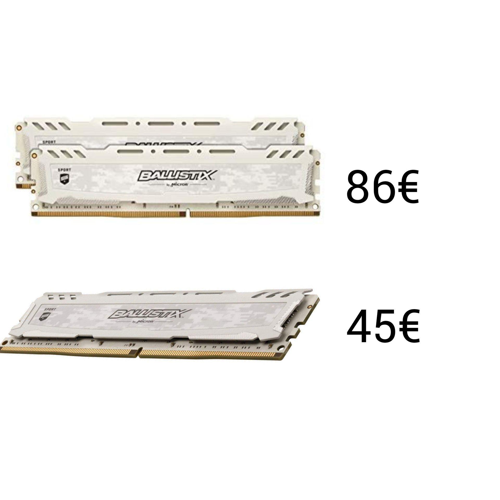 Ballistix Sport LT, 16 GB, 3000 MHz, Dual Rank
