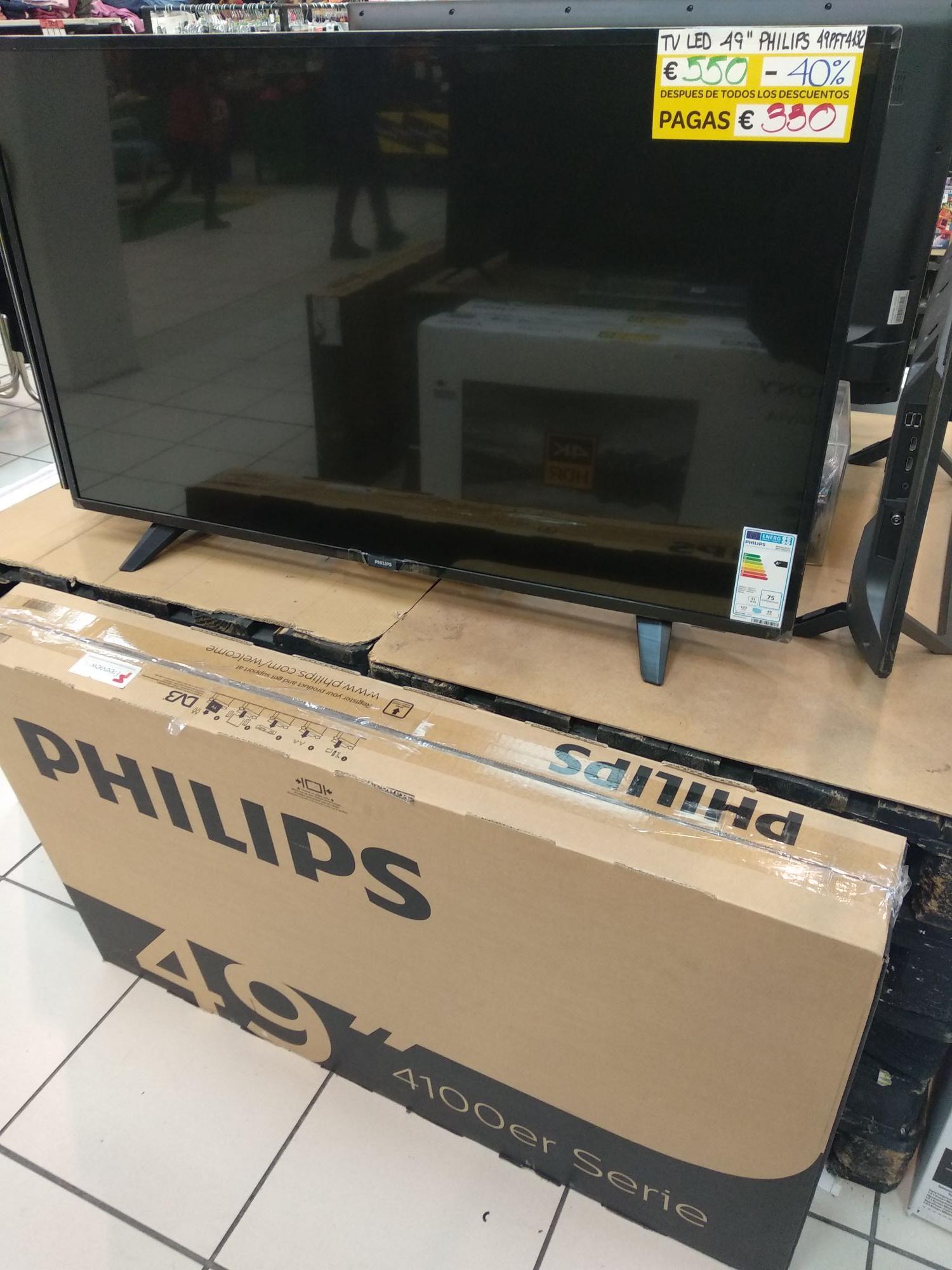 """TV LED 49"""" Philips 49PFT4132 a buen precio en el outlet de Carrefour en Vitoria"""
