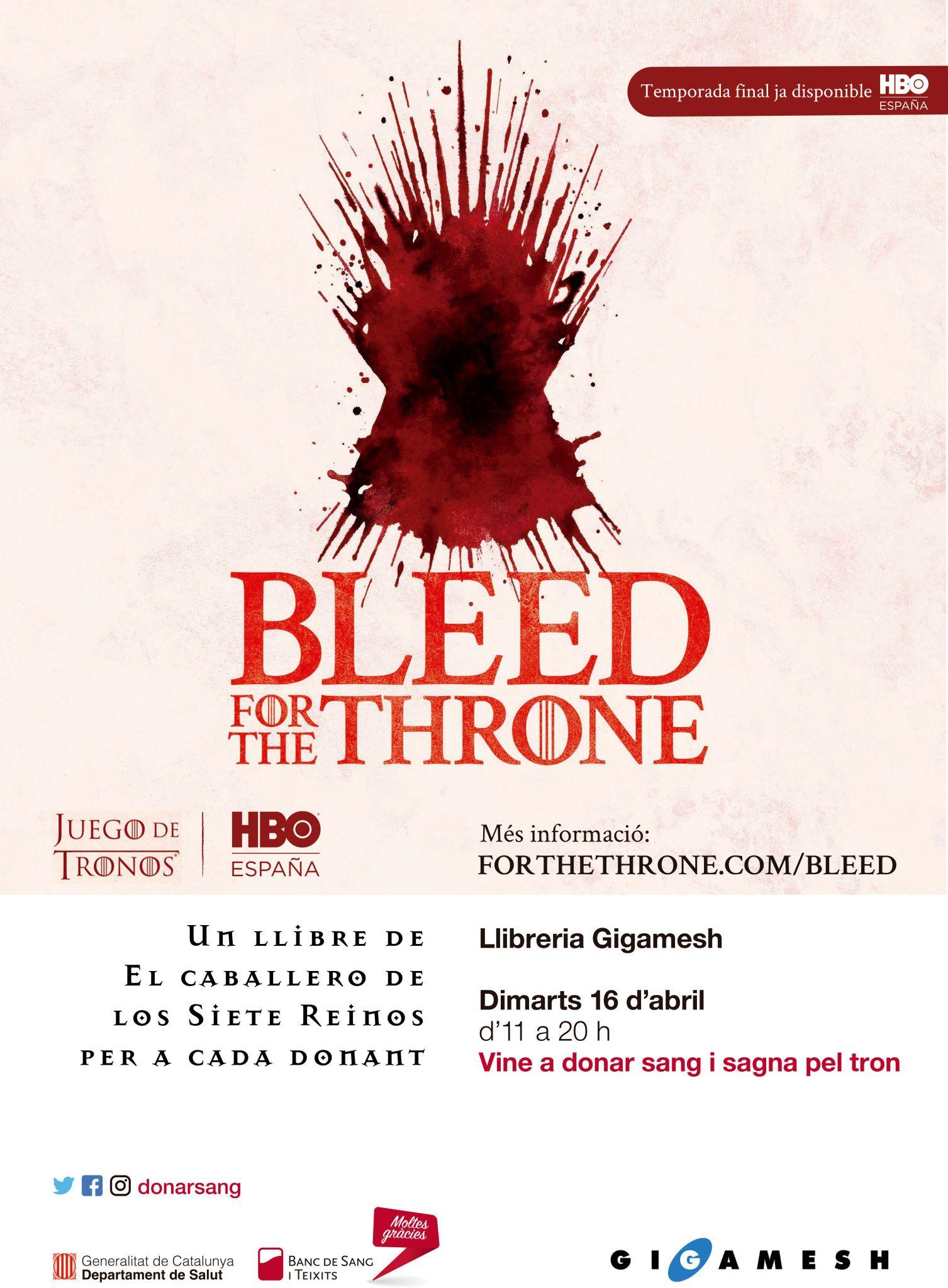 Libro GRATIS Caballero de los siete reinos por donar sangre en Barcelona