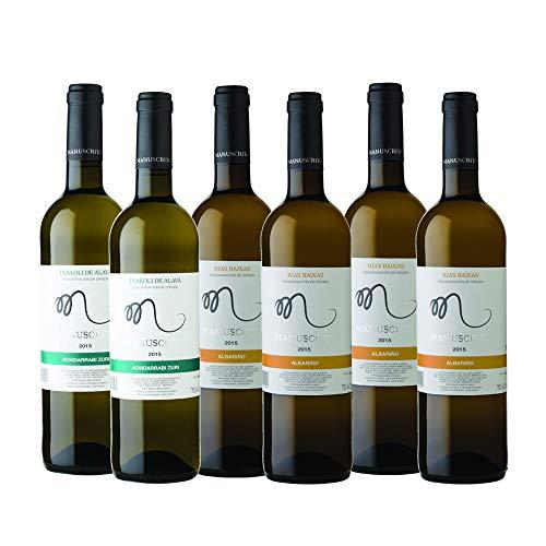 6 x Vinos Manuscrito (4 x Albariño + 2 x Txakoli // FLASH)