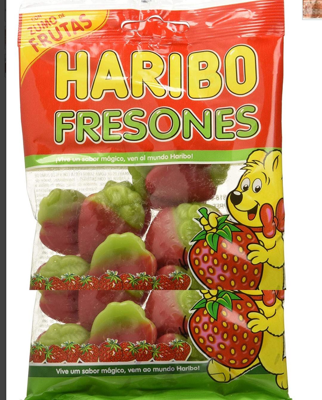 Fresones gominola Haribo 18 bolsas  de 100gr cada una total 1,8kg