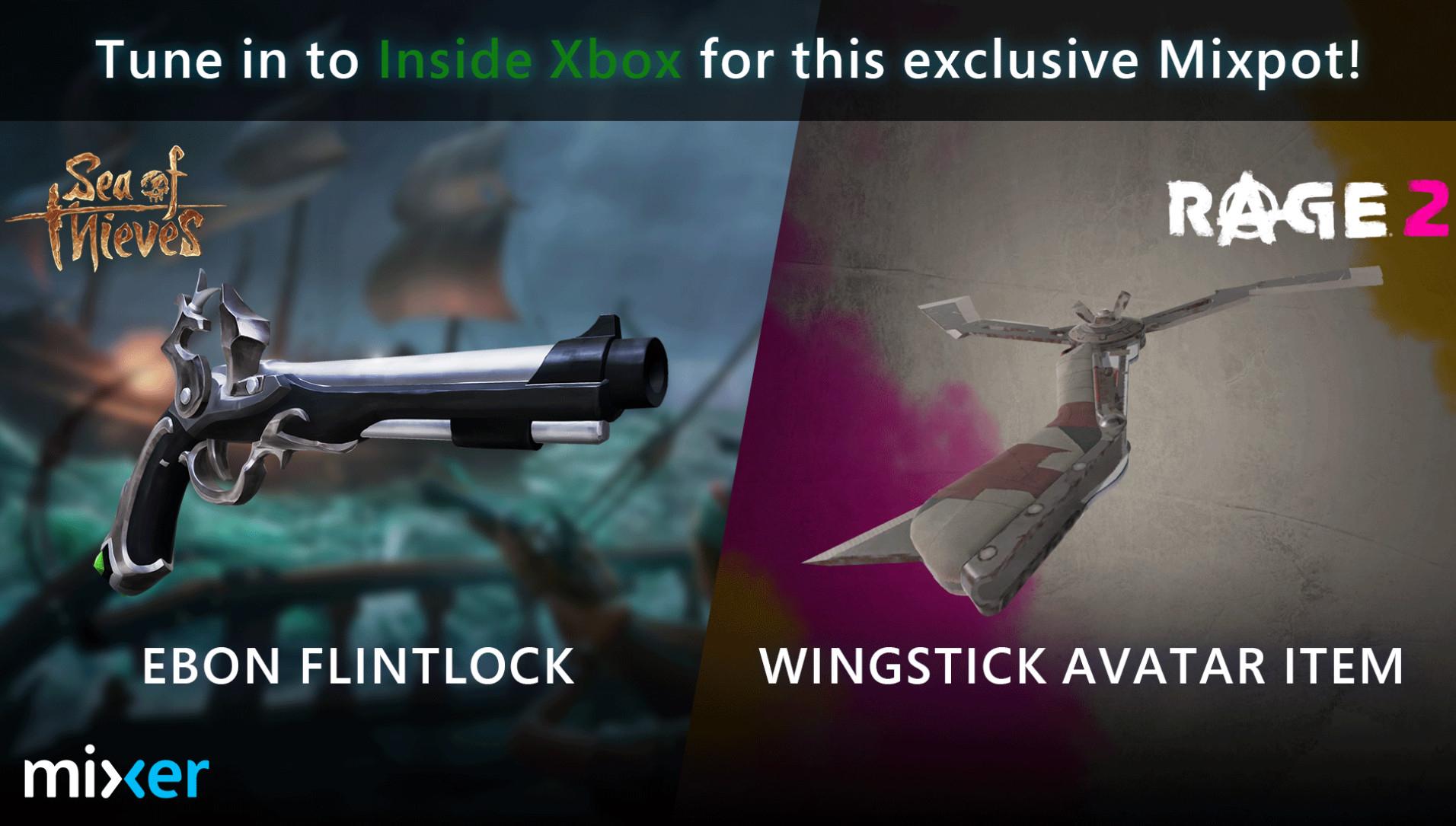 XBOX ONE (16/04): Nuevo contenido gratuito para Sea of Thieves y Rage 2 por seguir el Xbox Inside en Mixer