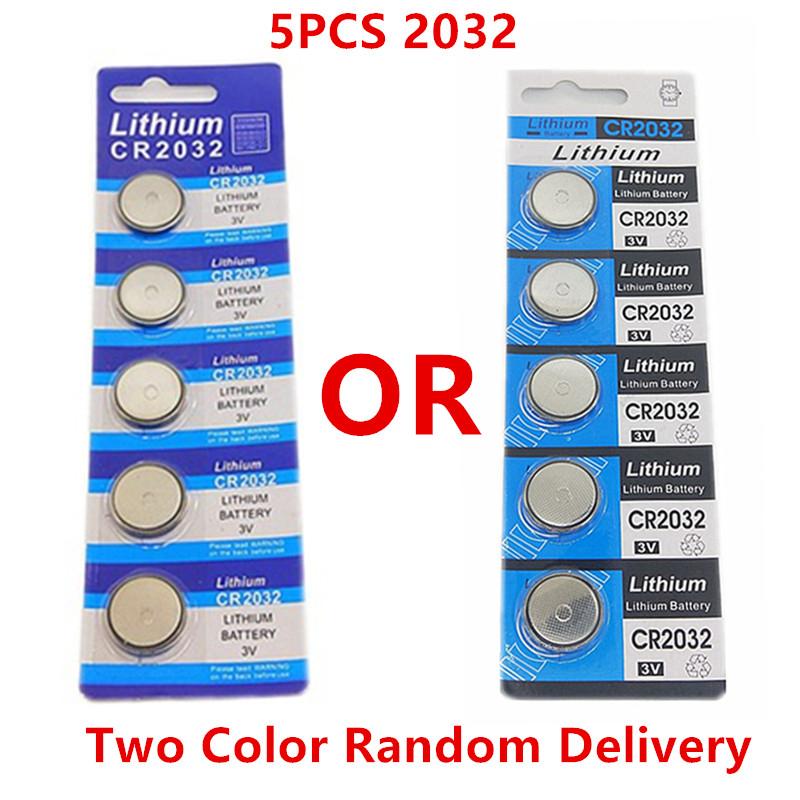 Pack 5 pilas de botón Litio CR2032