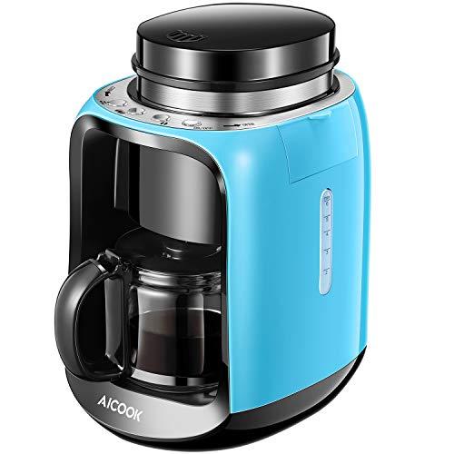 Aicook Cafetera con Molinillo, 2 en 1 Cafetera Automatica