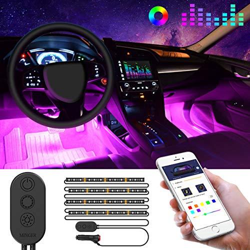 Luces Led RGB para coche con APP