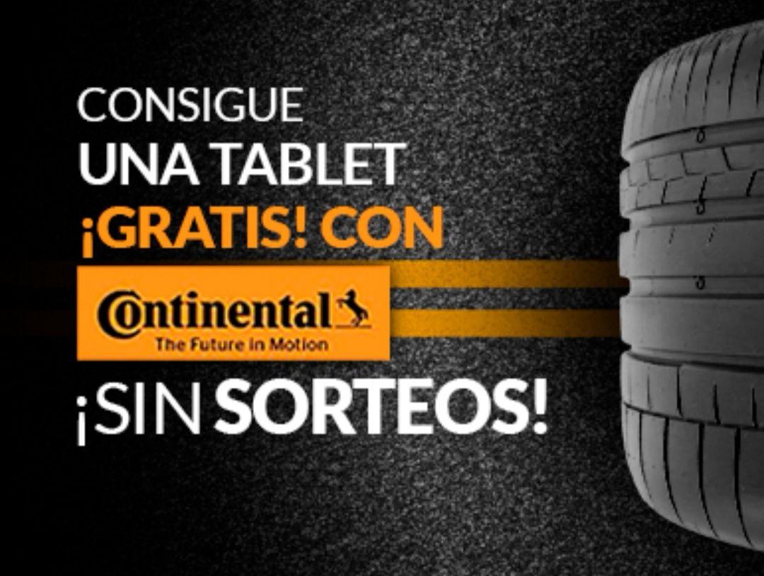 Tablets, altavoces y auriculares por la compra de neumáticos Continental